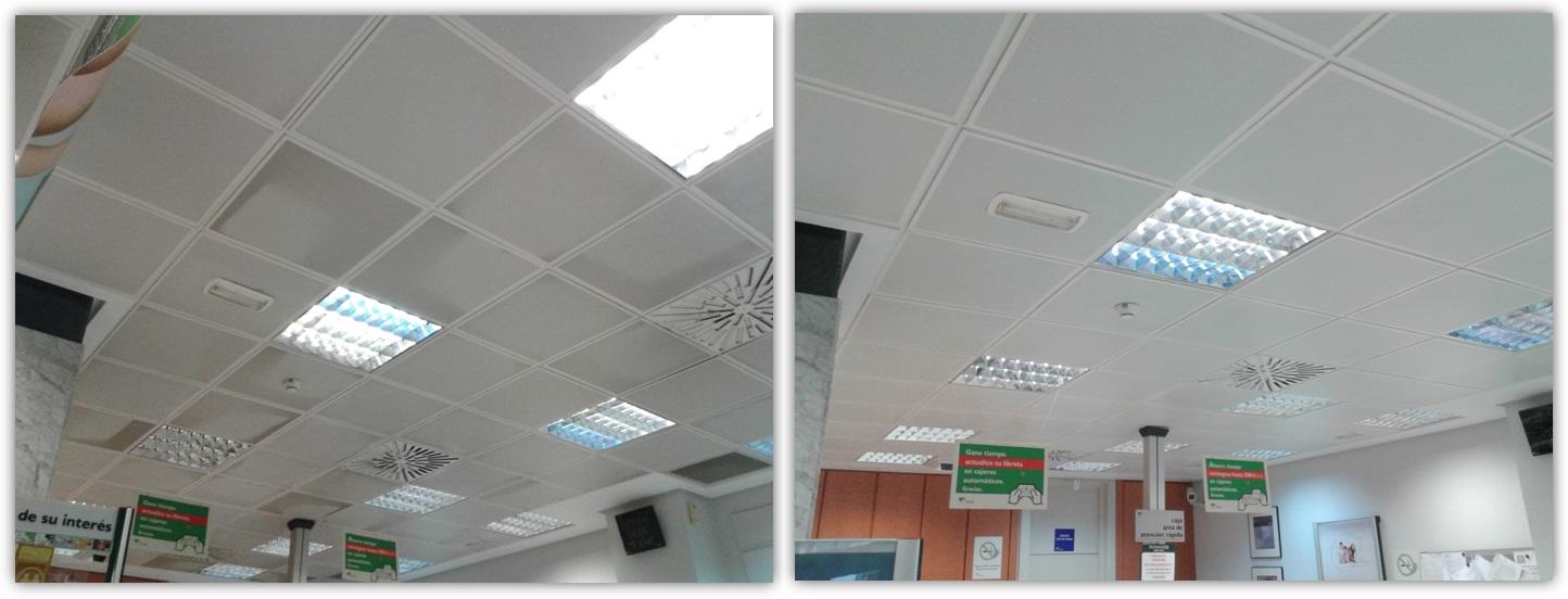 Limpieza falsos techos - Graffiplac