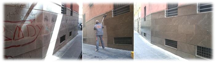 Limpieza de Fachada - Graffitis y Polución