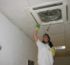 Limpieza de accesorios del techo