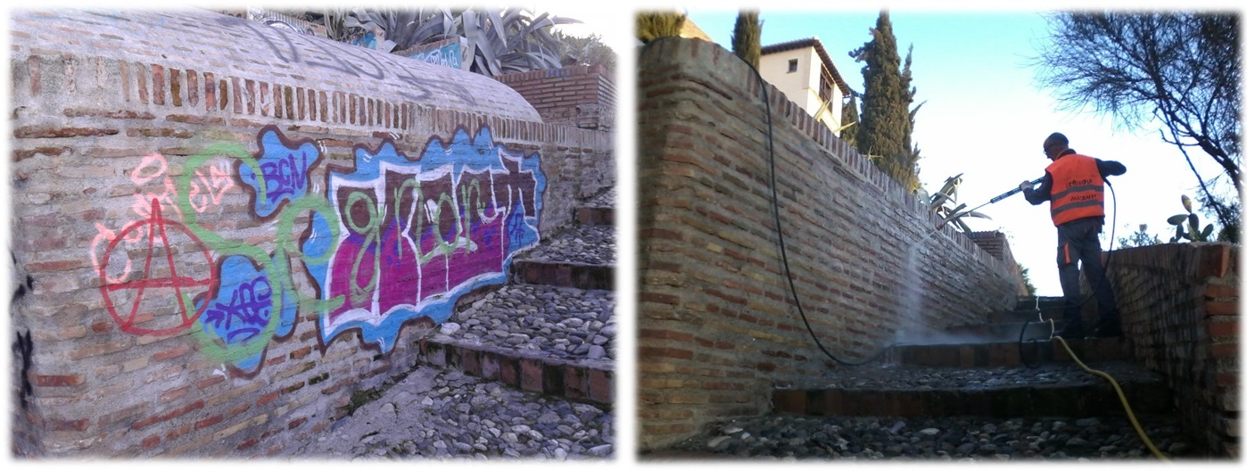 Limpieza de Graffitis y Ladrillo visto - Aljibe del Zenete