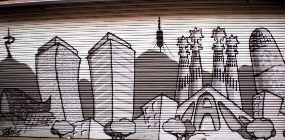 Arte en las persianas - Barcelona