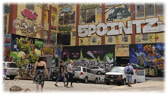 El mural creado con aerosoles