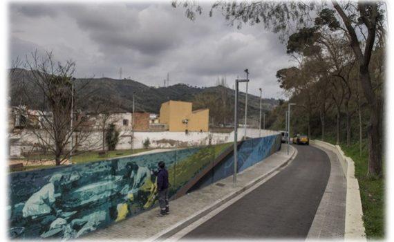 Un graffiti de 100 metros