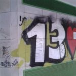 Limpieza de graffitis sobre mármol - Antes