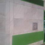 Limpieza de graffitis sobre mármol - después