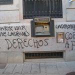 Limpieza de graffitis en granito sin pulir - Antes