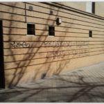 limpieza de graffitis ladrillo -antes