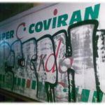 Limpieza de graffitis en fibra - antes