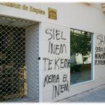 Limpieza de graffitis en protección - antes