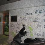 Limpieza de graffitis en mármol - Antes